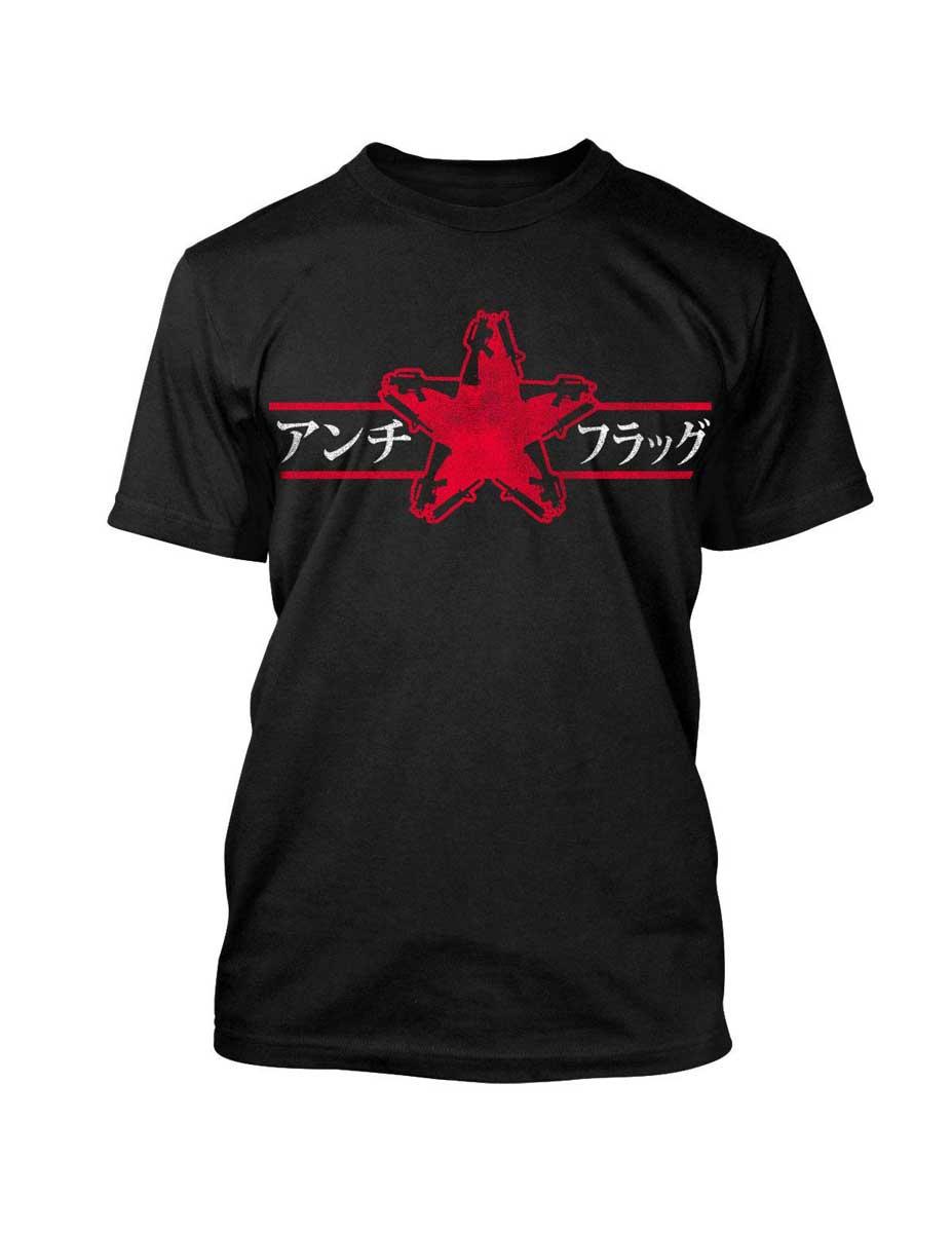 Image of Anti-Flag - Gunstar - Japanese Adult T-Shirt In Black