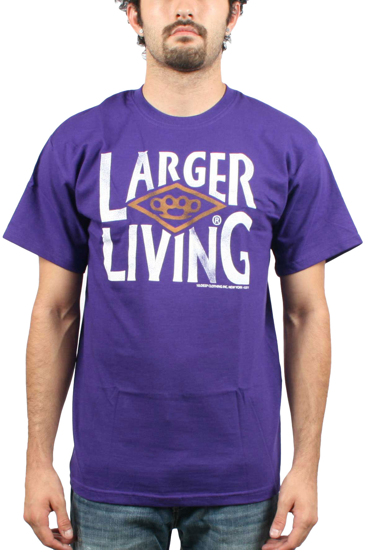 Image of 10 Deep- Larger Living Mens T-shirt in Purple