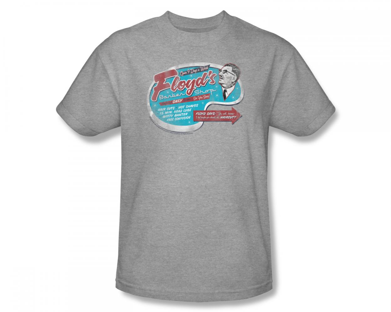 Image of Andy Griffith - Andy Griffith / Floyds Barber Shop Slim Fit Adult T-Shirt In Heather