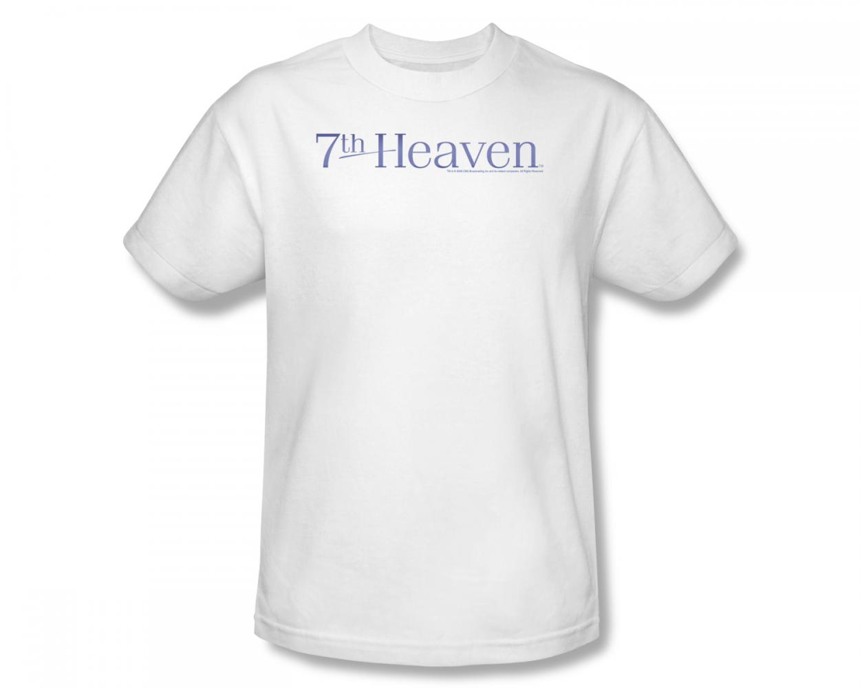 Image of 7Th Heaven - 7Th Heaven / 7Th Heaven Logo Slim Fit Adult T-Shirt In White