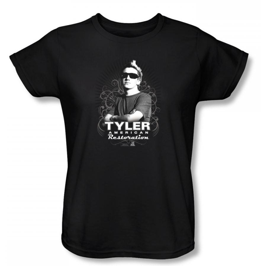 Image of American Restoration - Tyler Womens T-Shirt In Black