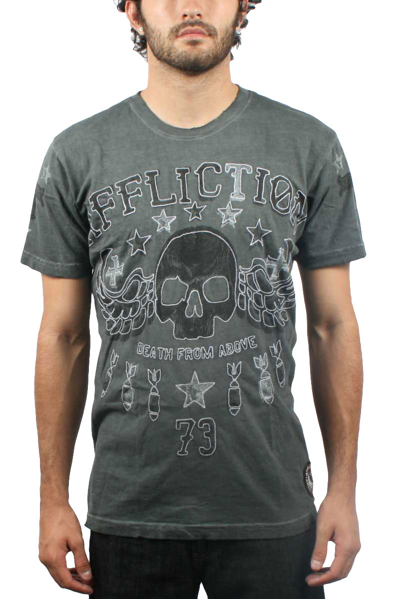 Image of Affliction - Mens Above T-Shirt in Charcoal