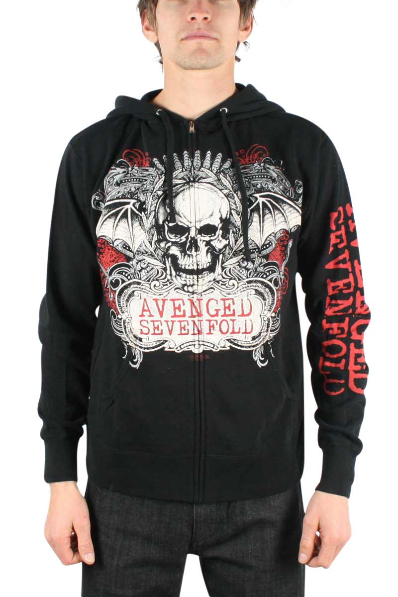 Avenged Sevenfold Zipper Hoodie For Men