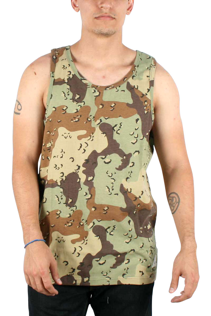 Image of 10 Deep - Mens Ground Troops Tank In Chips Camo
