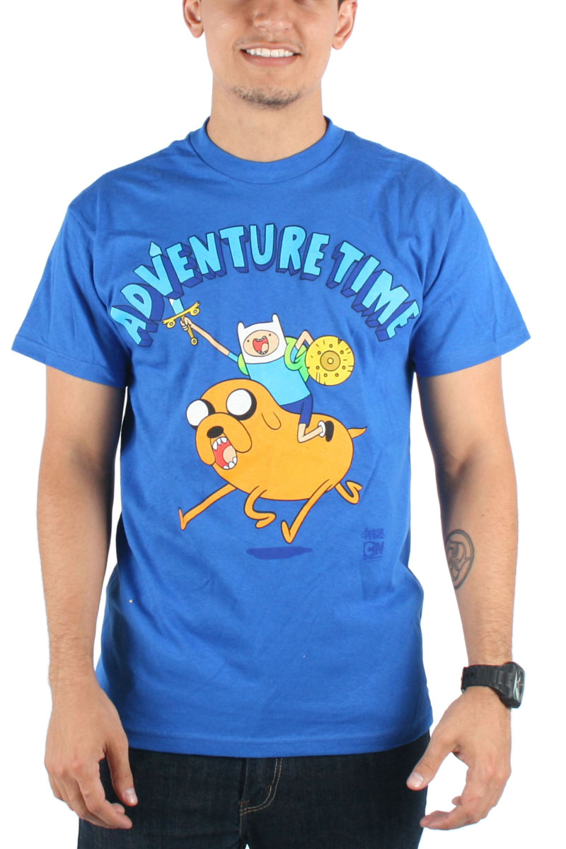 Image of Adventure Time - Mens Onward Charge! T-Shirt in Navy
