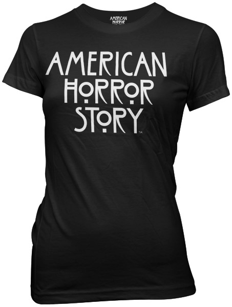Image of American Horror Story - Womens Stacked Type Logo T-shirt in Black