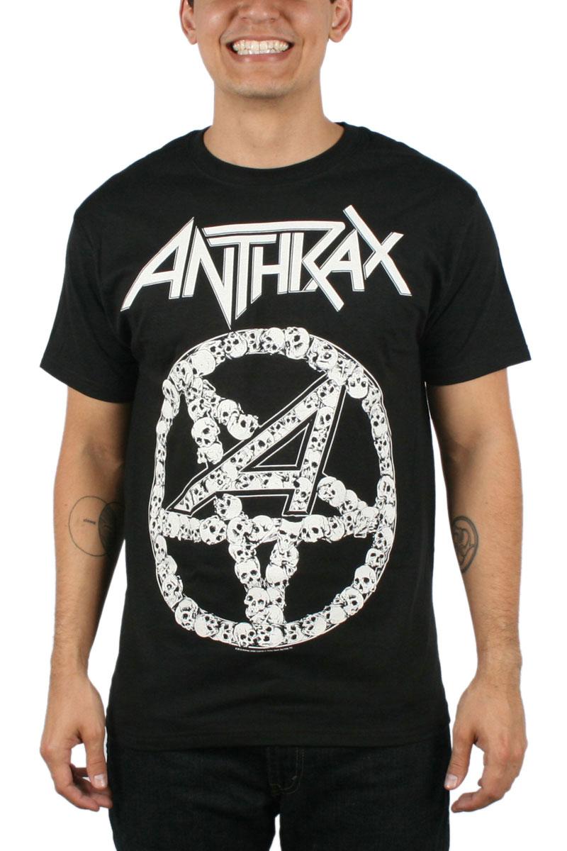 Image of Anthrax - Mens Pentagram Skulls T-shirt in Black