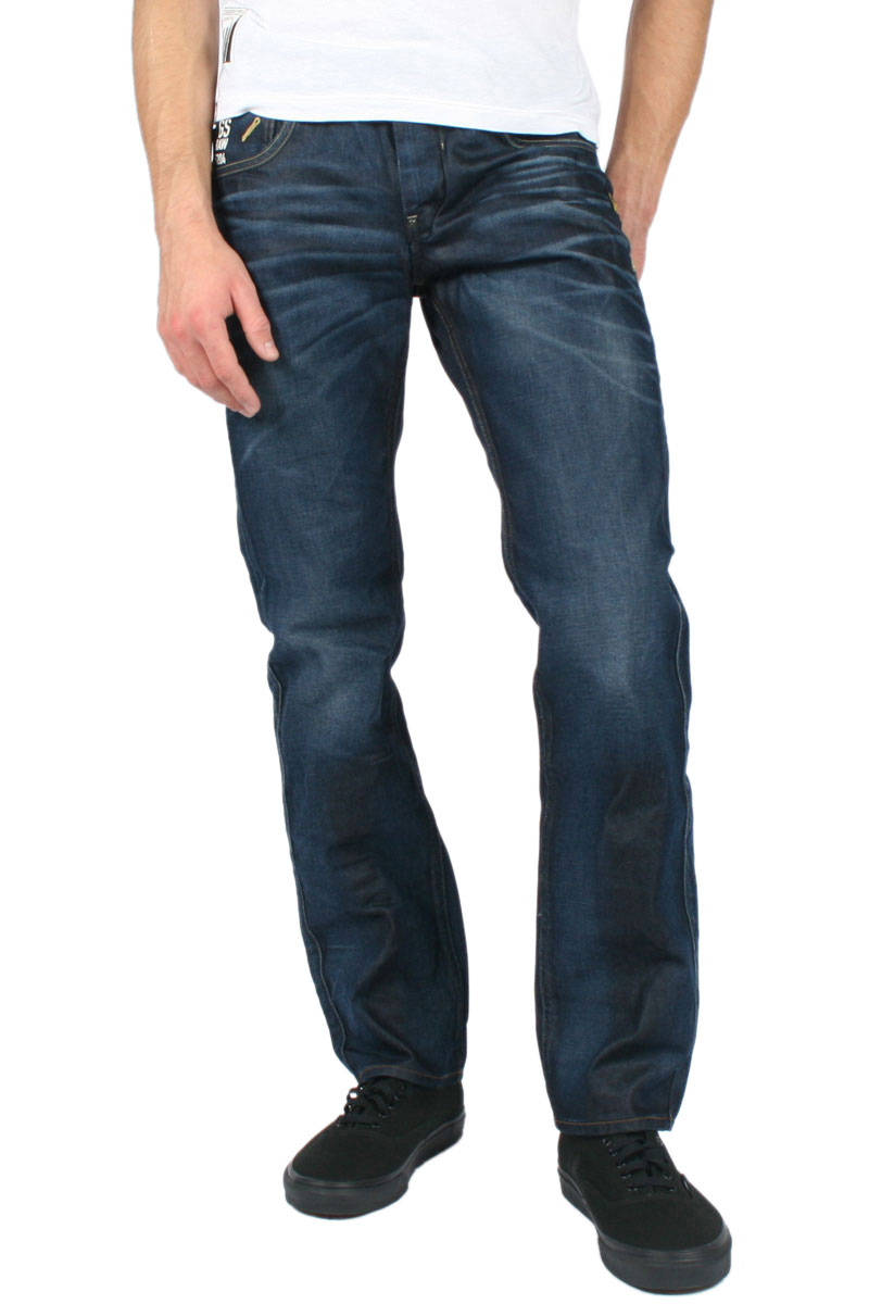 g star raw mens attacc low straight leg jeans in dark aged. Black Bedroom Furniture Sets. Home Design Ideas