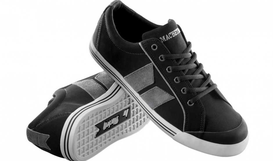 Macbeth - Mens Eliot Premium Shoes in Black/Dark Grey