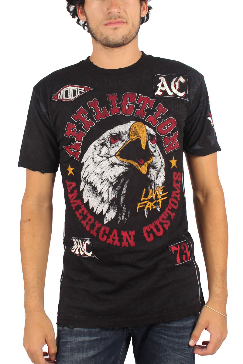 Image of Affliction - Mens AC Wild T-Shirt in Black