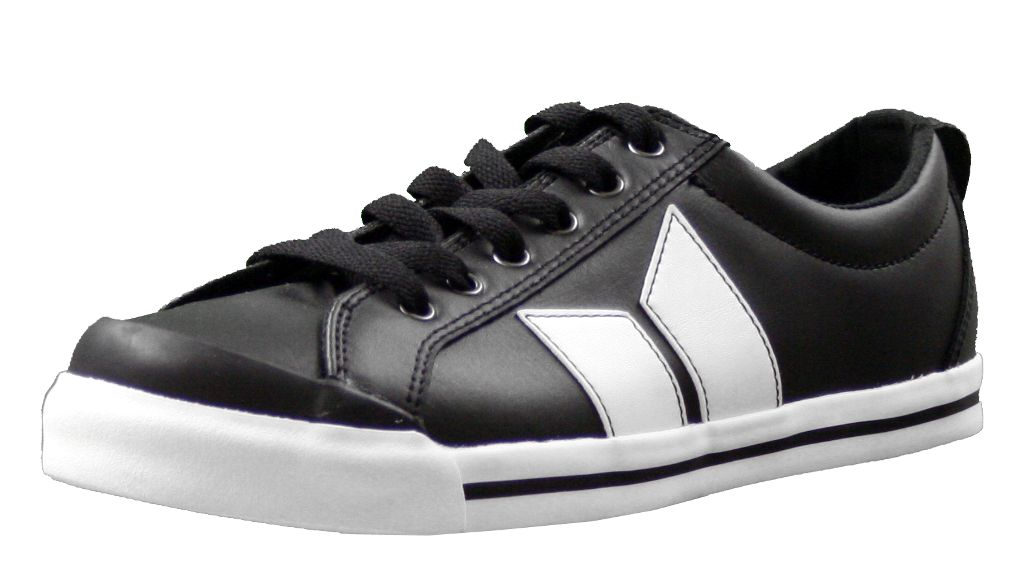 Eliot Premium Black/White Leather Mens Shoes by Macbeth ...