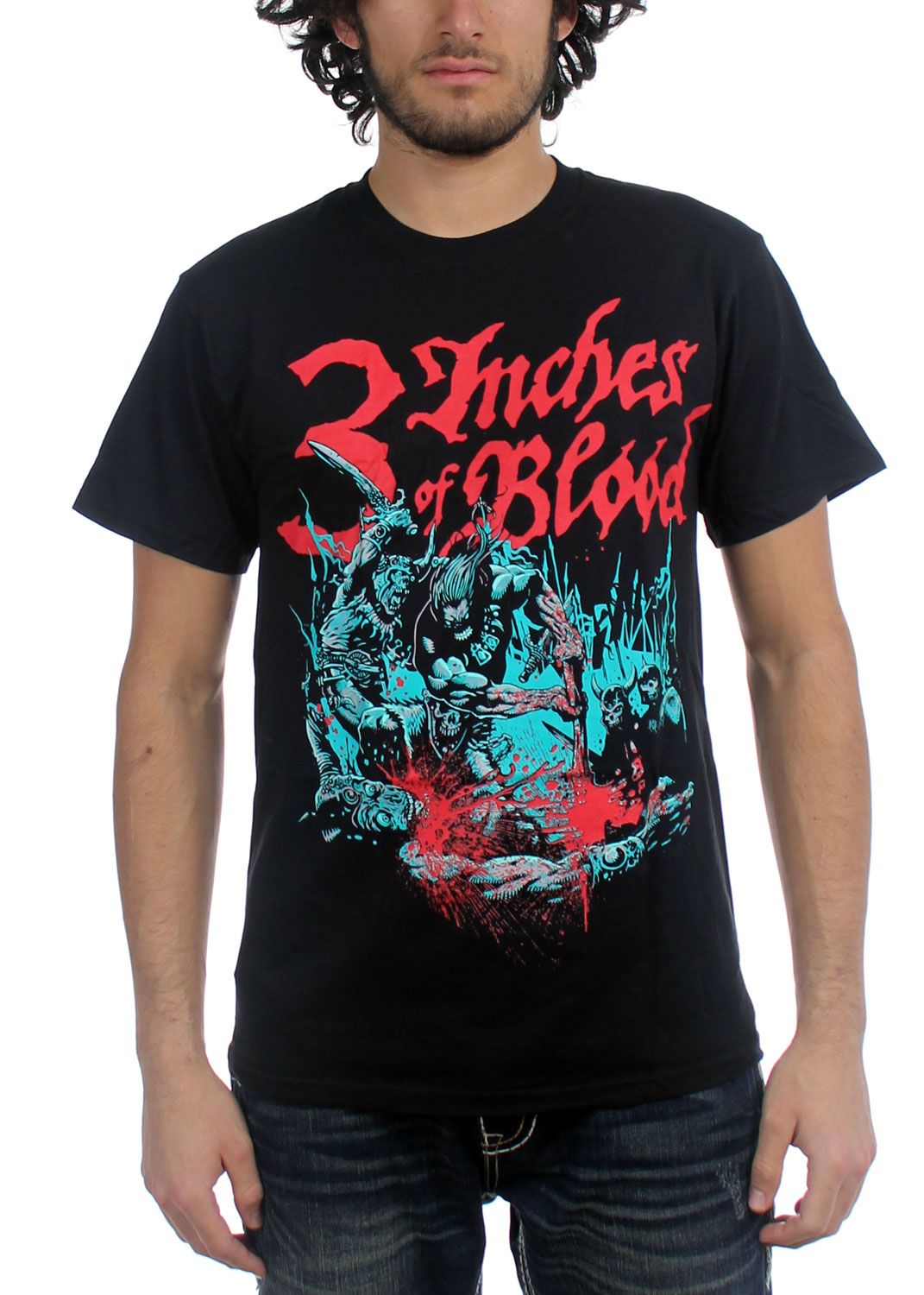 Image of 3 Inches of Blood - Mens Barbarian T-Shirt in Black