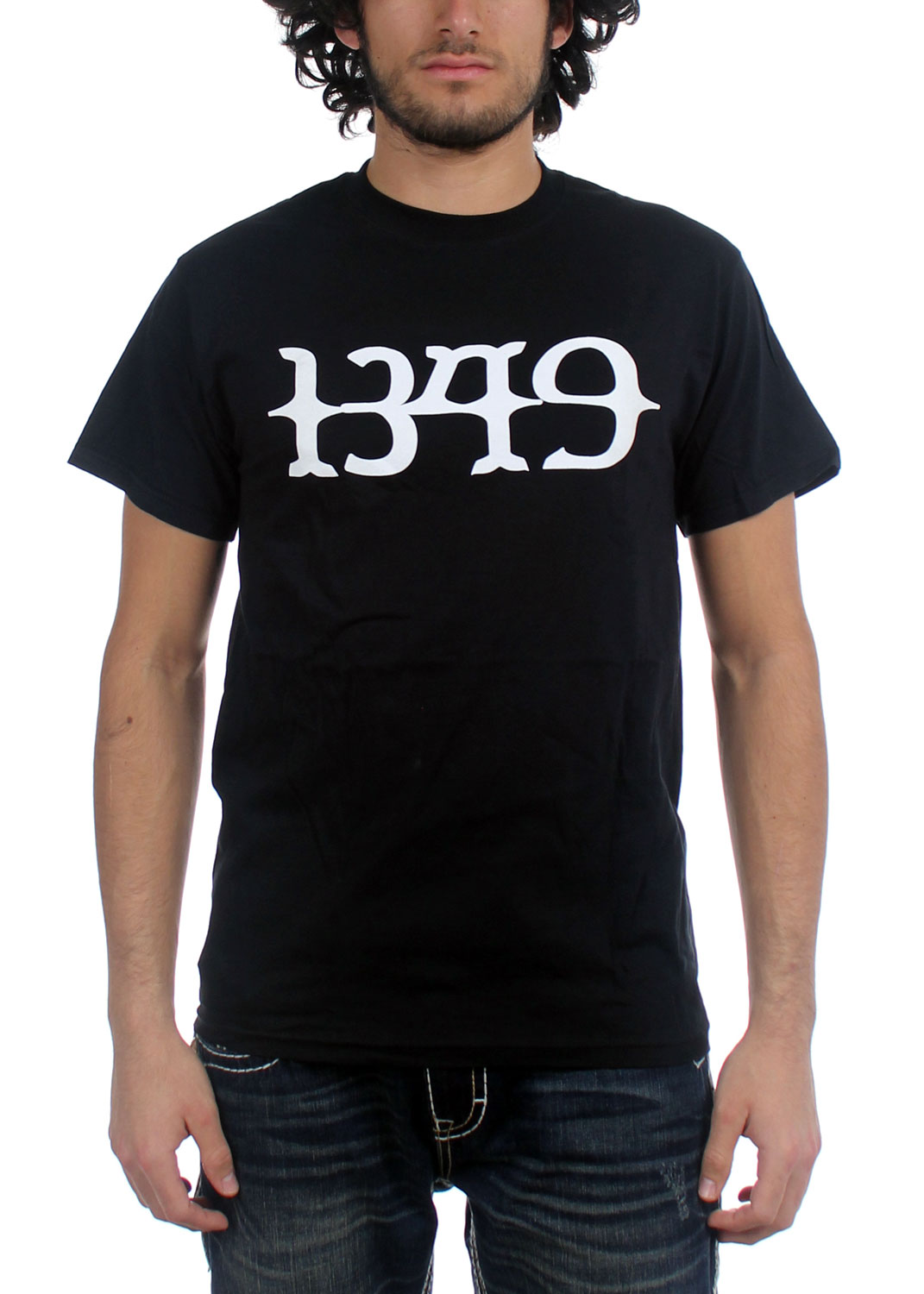 Image of 1349 - Mens Logo T-Shirt in Red/Black