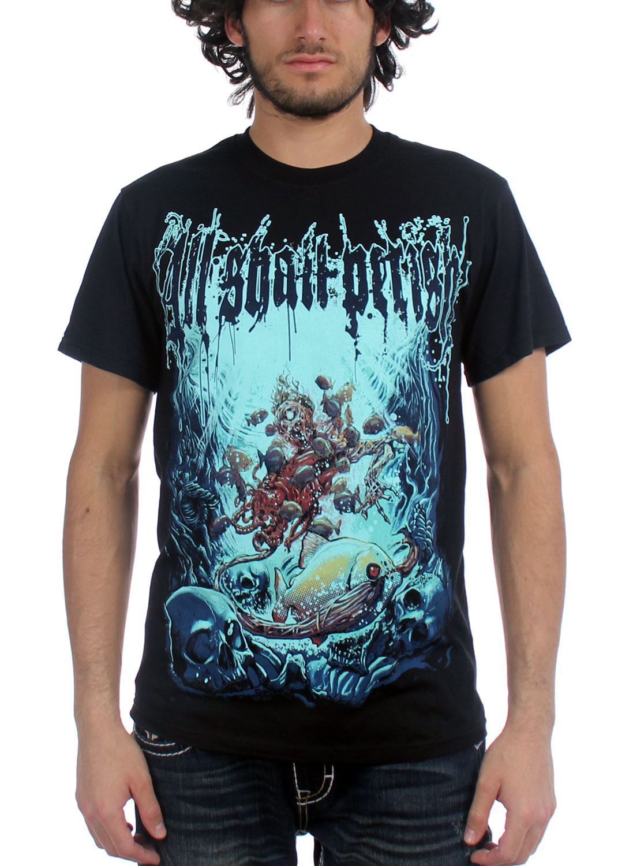 Image of All Shall Perish - Mens Deep Sea T-Shirt in Black