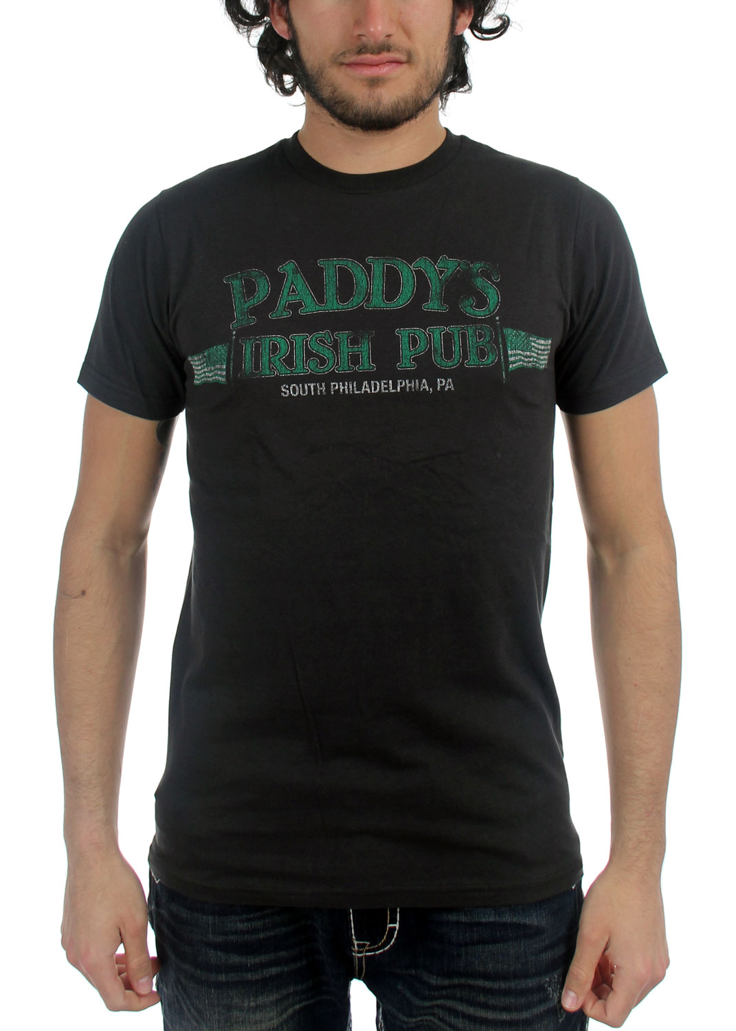 Image of Always Sunny In Philly - Always Sunny Paddys Irish Pub Adult Fitted T-shirt in Black