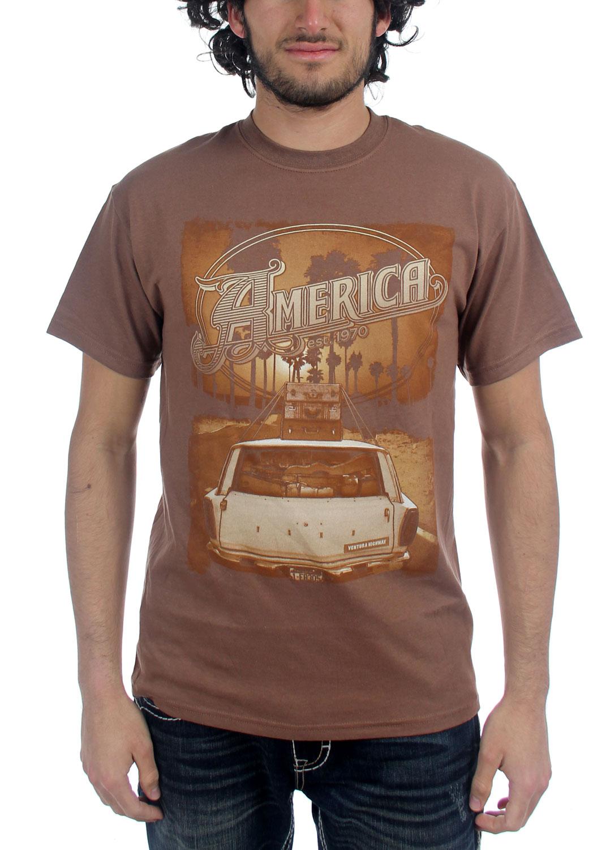 Image of America - Mens Ventura Highway T-shirt in Brown