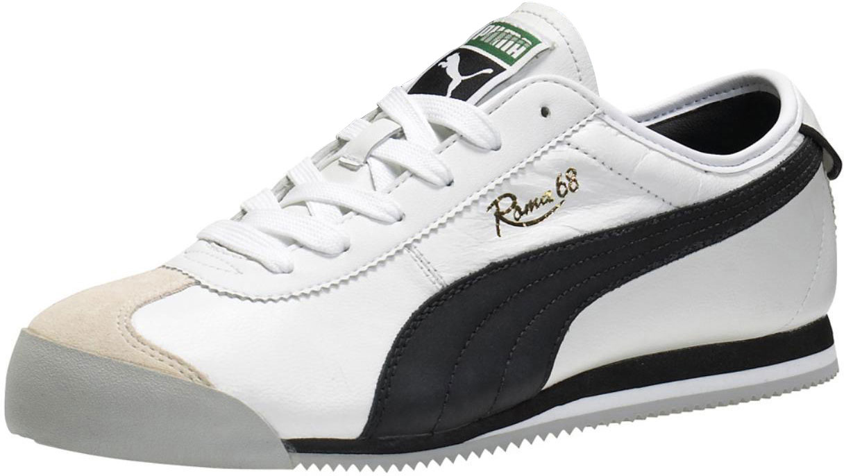 Puma Roma 68 Vintage Shoes In White / Black