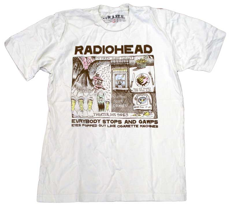 color in drawing t shirt by radiohead
