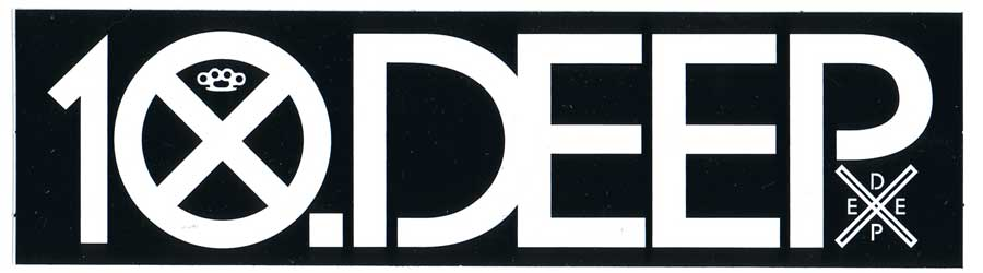 Image of 10.Deep - Logo Sticker 8 Inches x 2 Inches