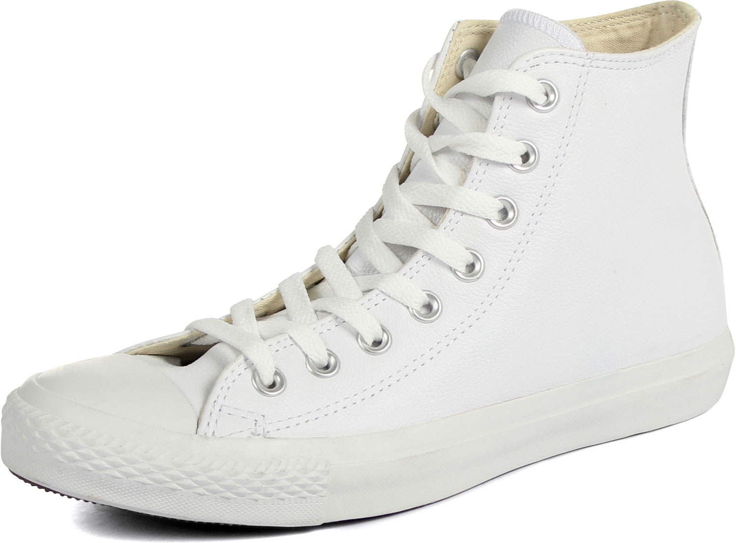 4013dc5aad5bb0 Converse Chuck Taylor All Star Shoes (1T406) Leather Hi White ...