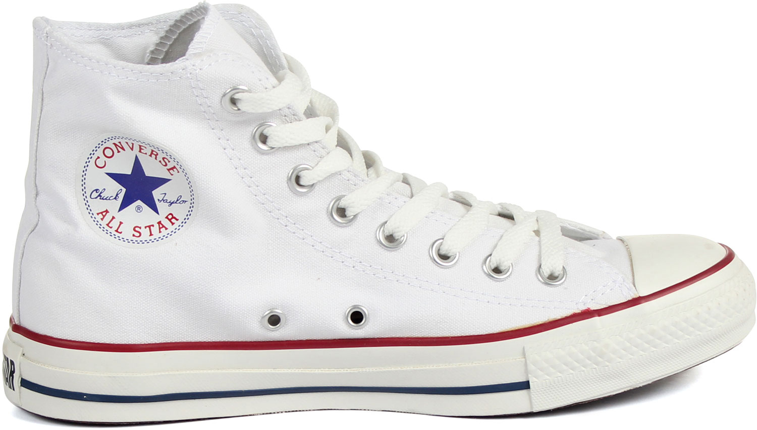 13fc7a5b003 Converse Chuck Taylor All Star Shoes (M7650) Hi Top in Optical White