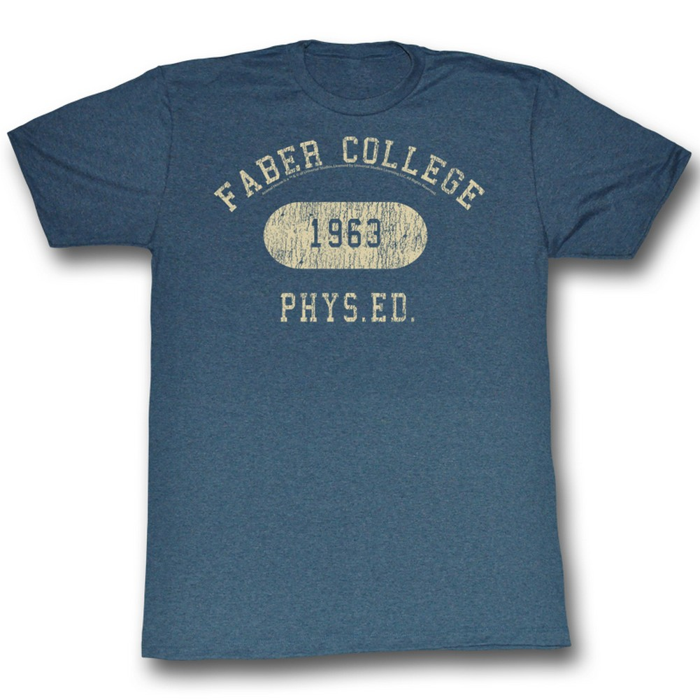 Image of Animal House - Mens Faber Phys Ed T-Shirt In Navy