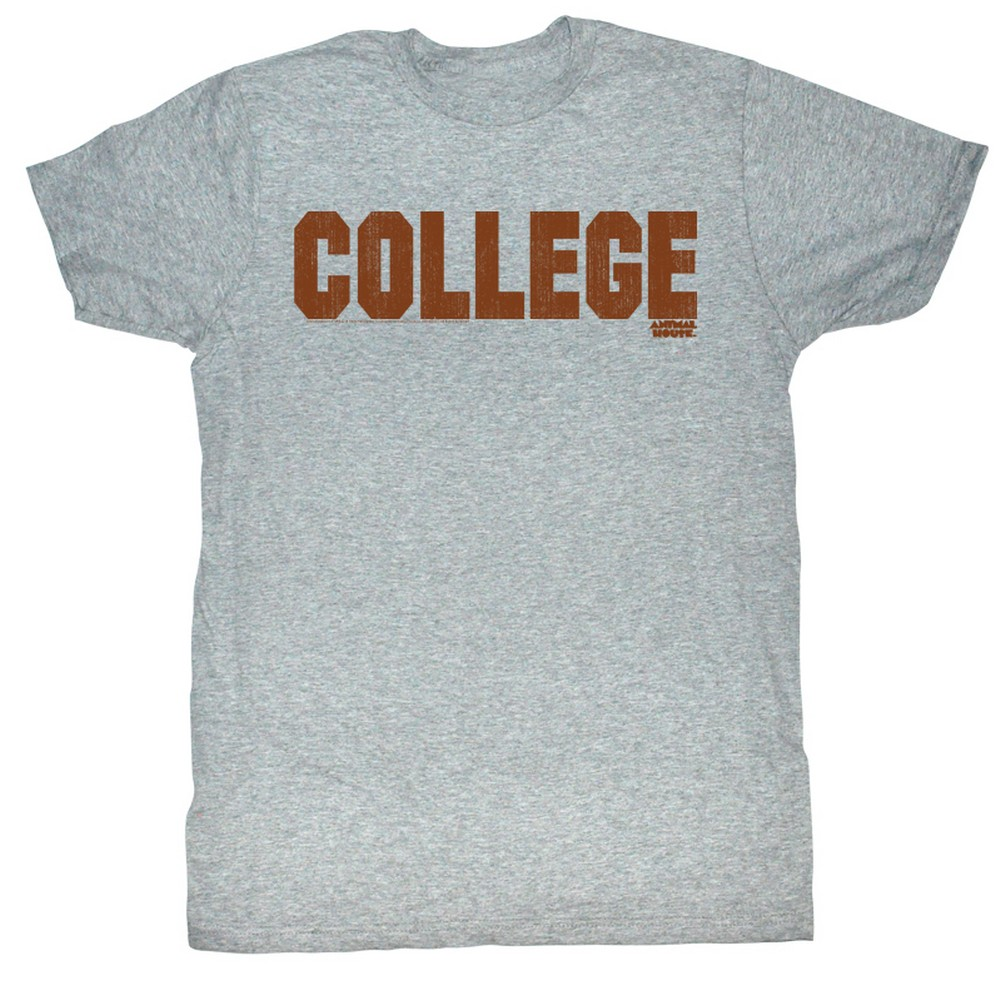 Image of Animal House - Mens Clg Orange T-Shirt In Gray Heather