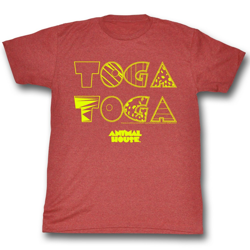 Image of Animal House - Mens Toga2X T-Shirt In Red Heather
