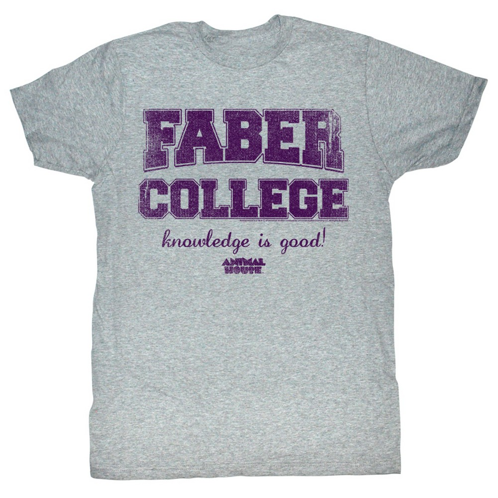 Image of Animal House - Mens Purp T-Shirt In Gray Heather