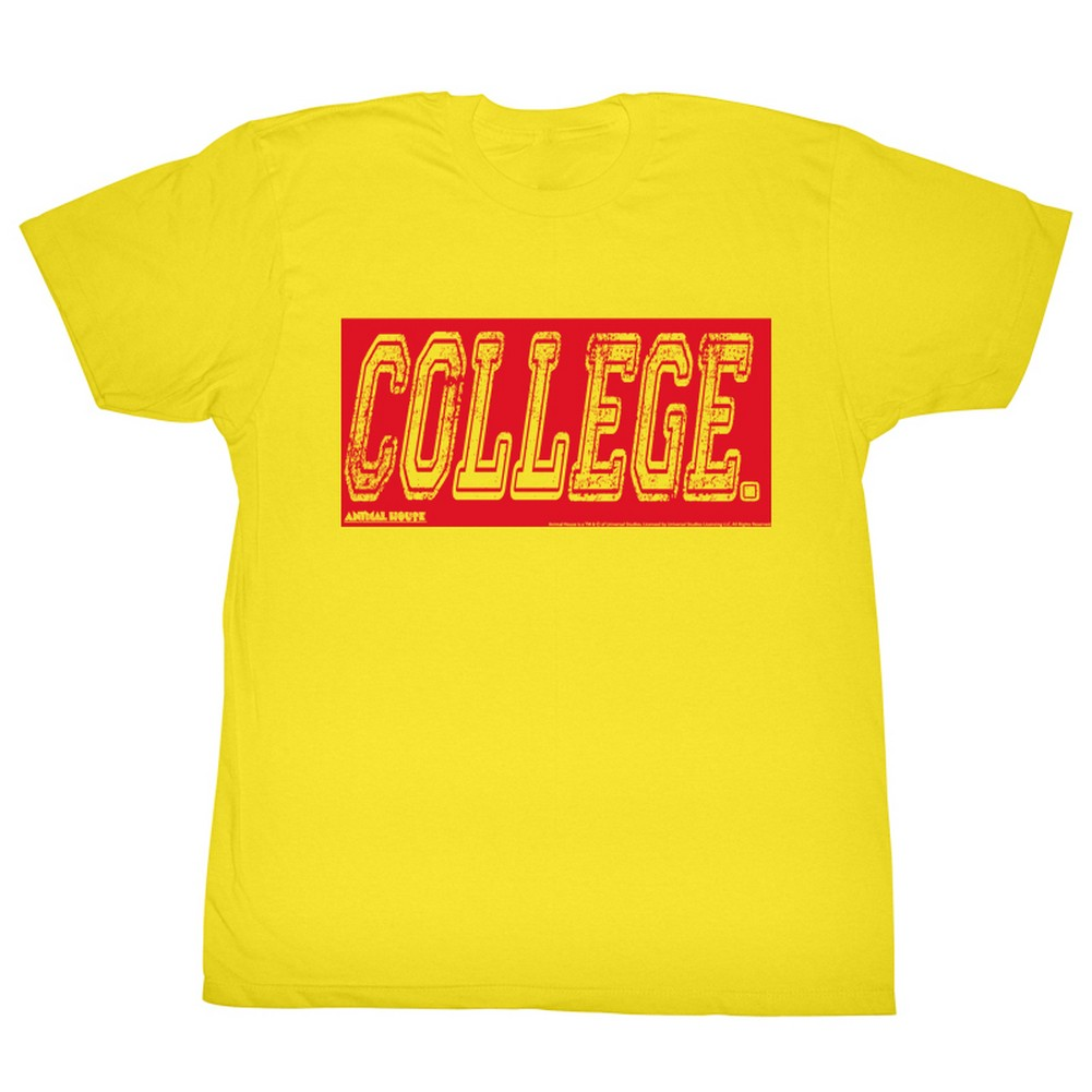 Image of Animal House - Mens College Oby T-Shirt In Yellow