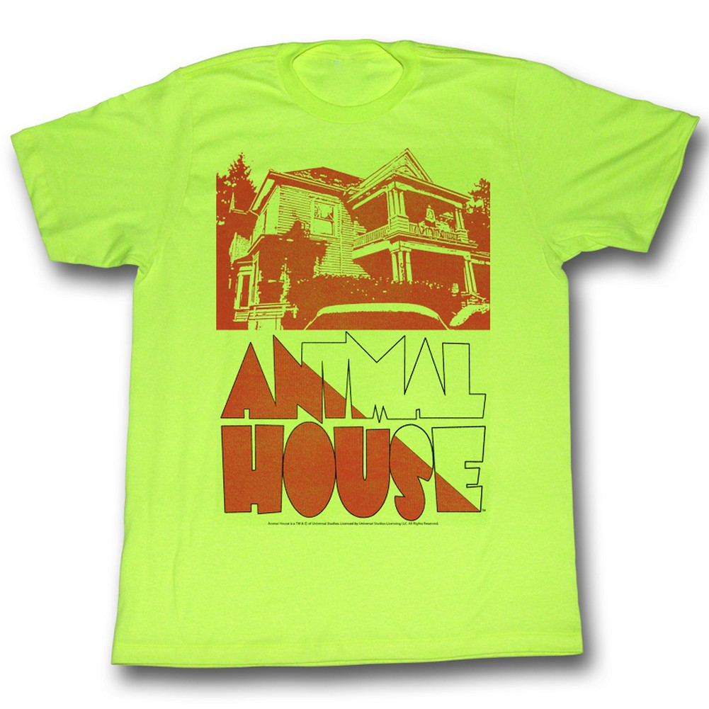 Image of Animal House - Mens Frat House T-Shirt In Neon Mint Heather