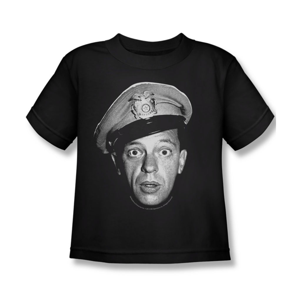 Image of Andy Griffith - Juvy Barney Head T-Shirt In Black