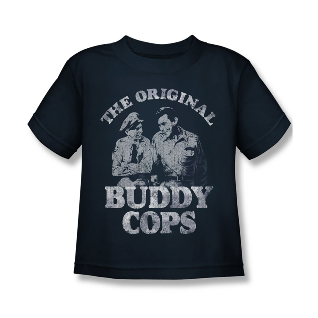Image of Andy Griffith - Juvy Buddy Cops T-Shirt In Navy