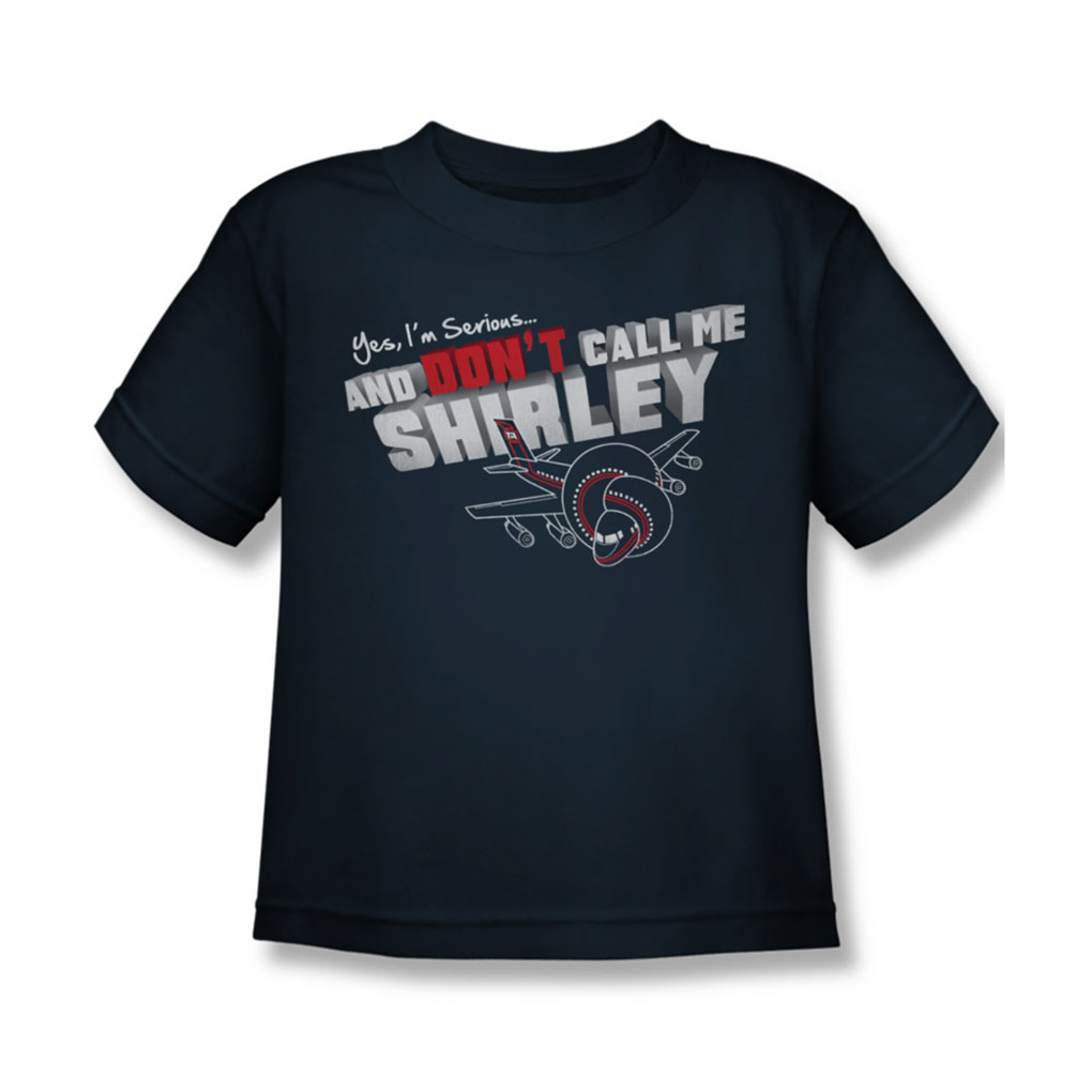Image of Airplane - Juvy Dont Call Me Shirley T-Shirt In Navy