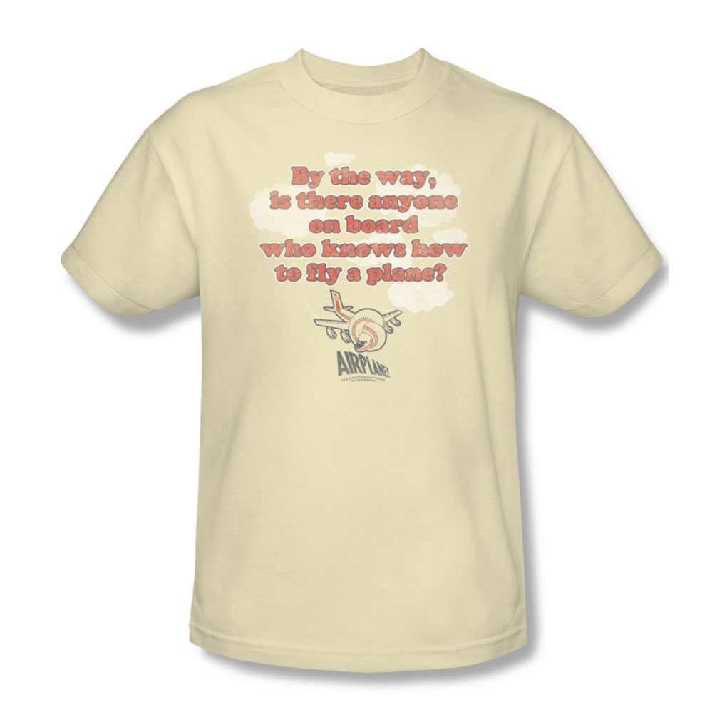 Image of Airplane - Mens Fly T-Shirt In Cream