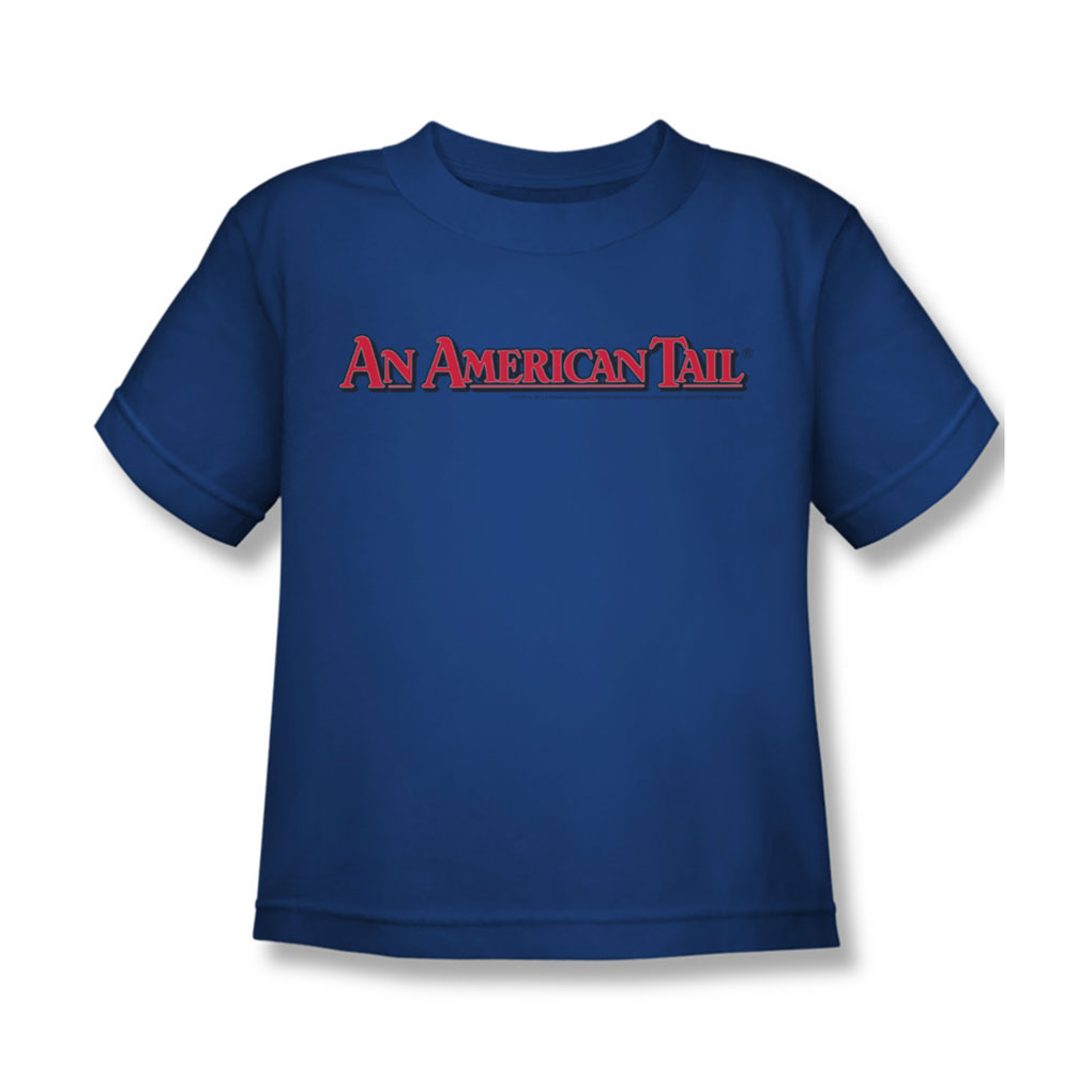 Image of American Tail - Juvy Title T-Shirt In Royal