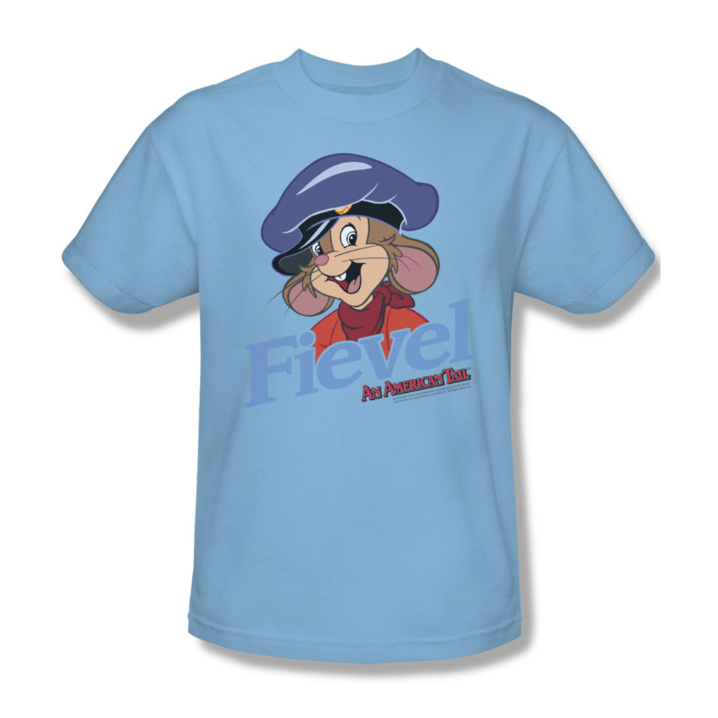 Image of American Tail - Mens Fiviel T-Shirt In Light Blue
