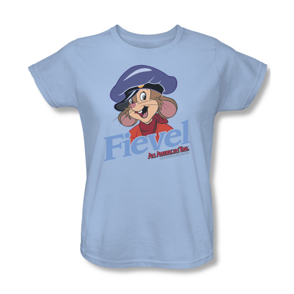 Image of American Tail - Womens Fiviel T-Shirt In Light Blue