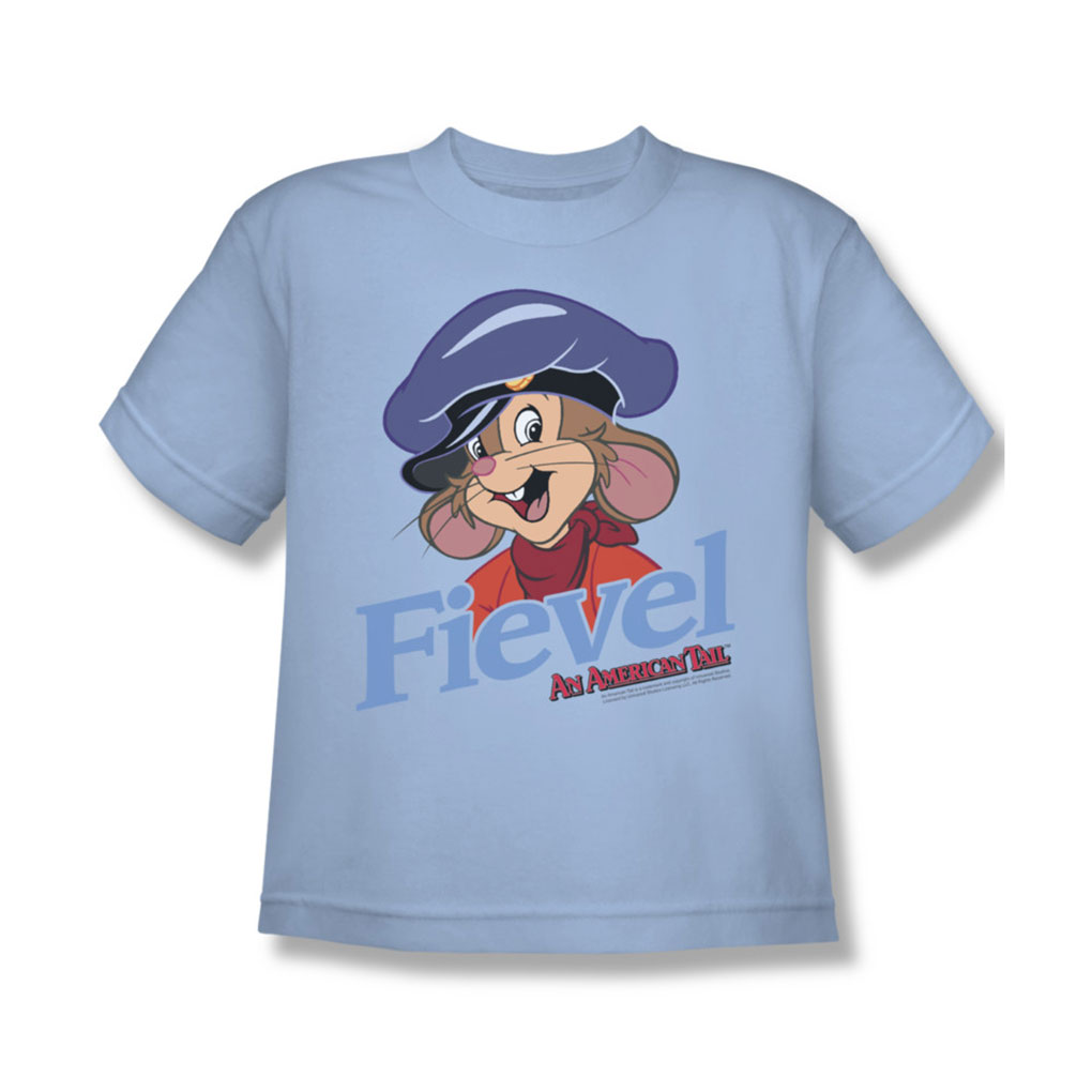 Image of American Tail - Youth Fiviel T-Shirt In Light Blue
