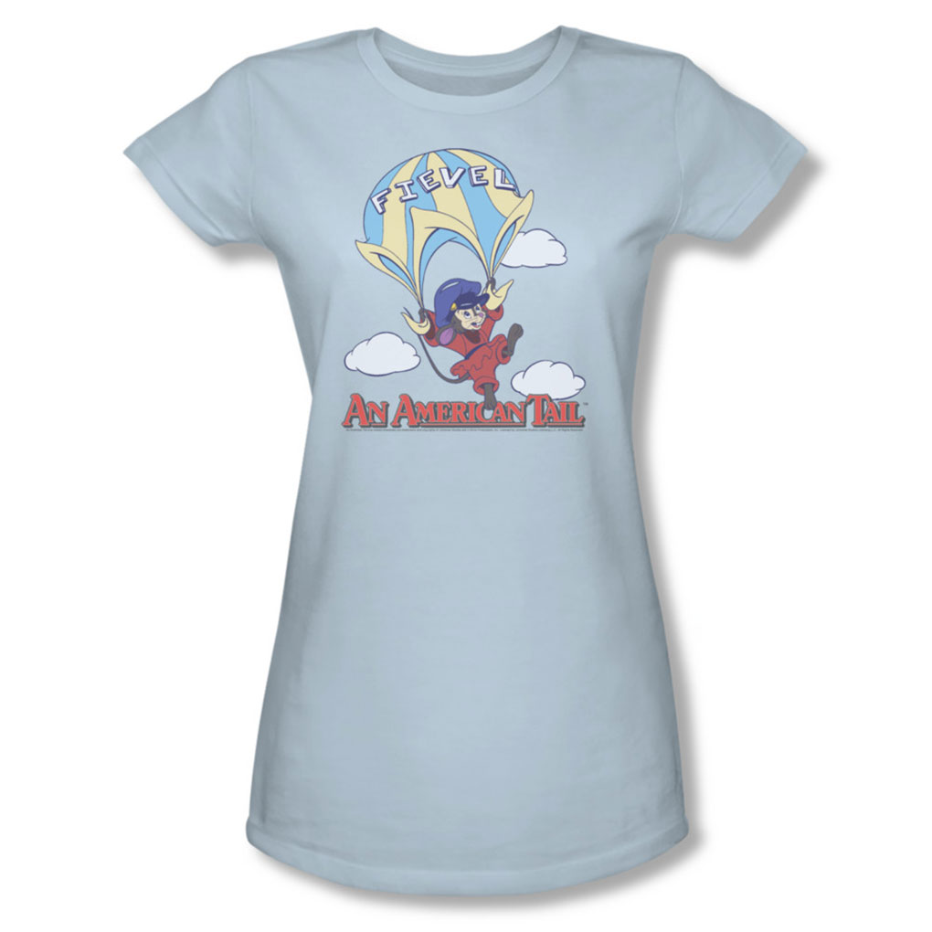 Image of American Tail - Womens Little Adventure T-Shirt In Light Blue