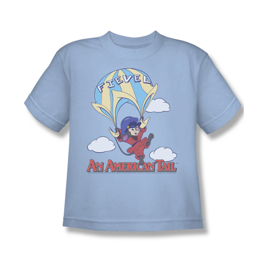 Image of American Tail - Youth Little Adventure T-Shirt In Light Blue