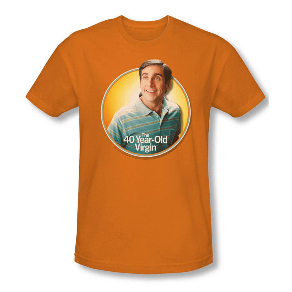 Image of 40 Year Old Virgin - Mens Circle T-Shirt In Orange
