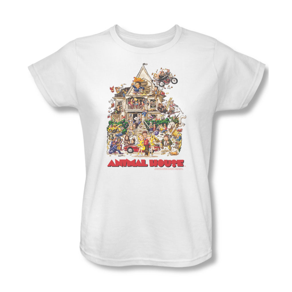 Image of Animal House - Womens Poster Art T-Shirt In White