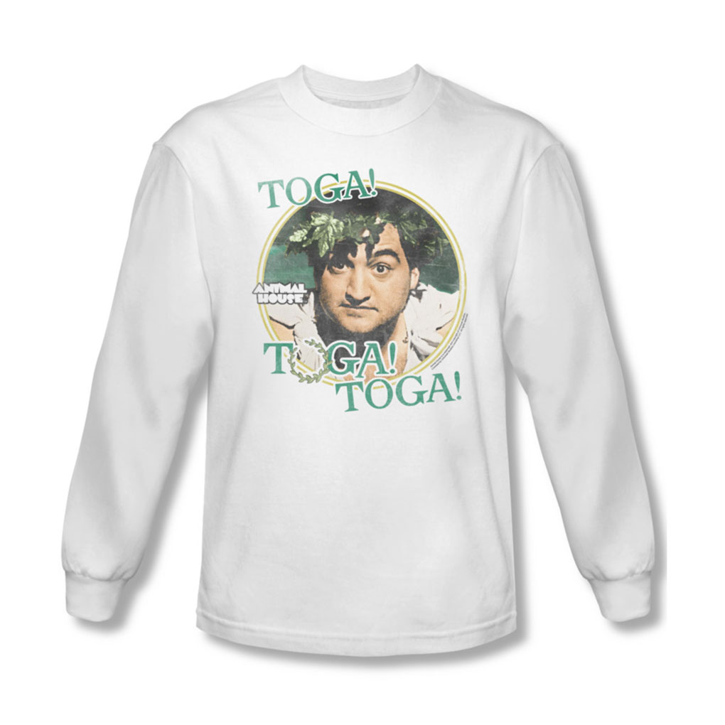 Image of Animal House - Mens Toga Long Sleeve Shirt In White