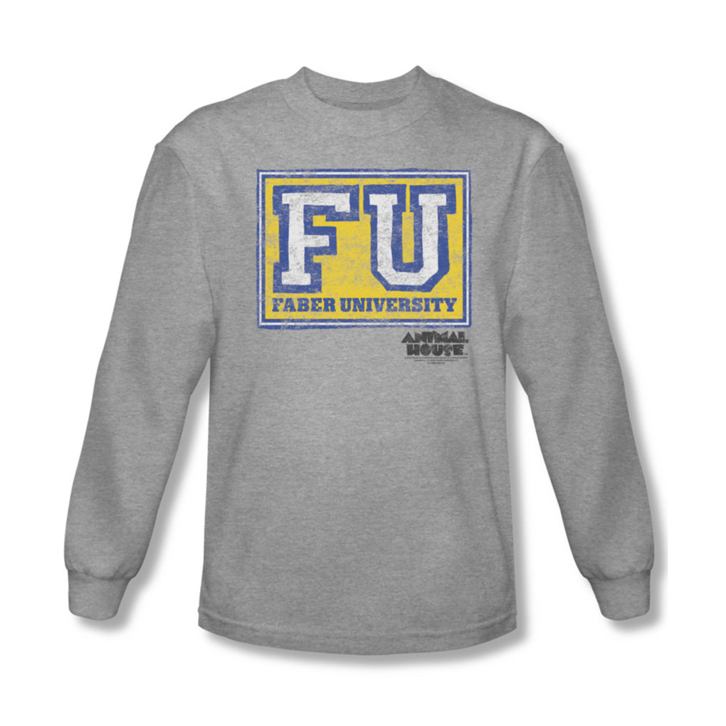 Image of Animal House - Mens Faber University Long Sleeve Shirt In Heather