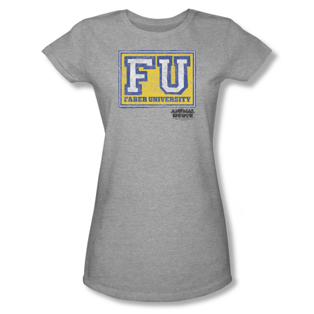 Image of Animal House - Womens Faber University T-Shirt In Heather