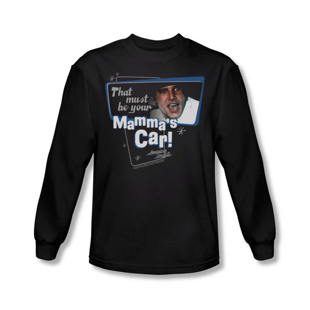Image of American Grafitti - Mens MammaS Car Long Sleeve Shirt In Black