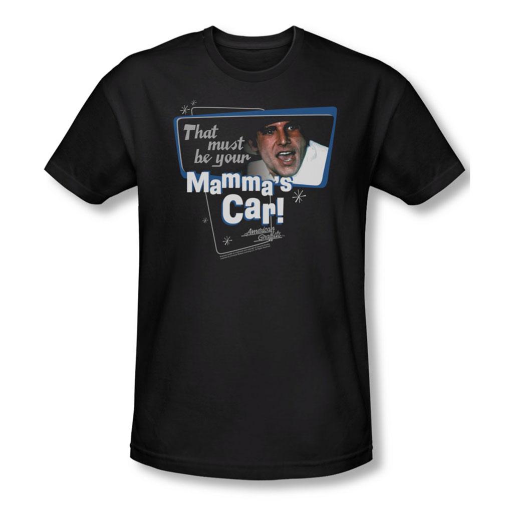 Image of American Grafitti - Mens MammaS Car T-Shirt In Black