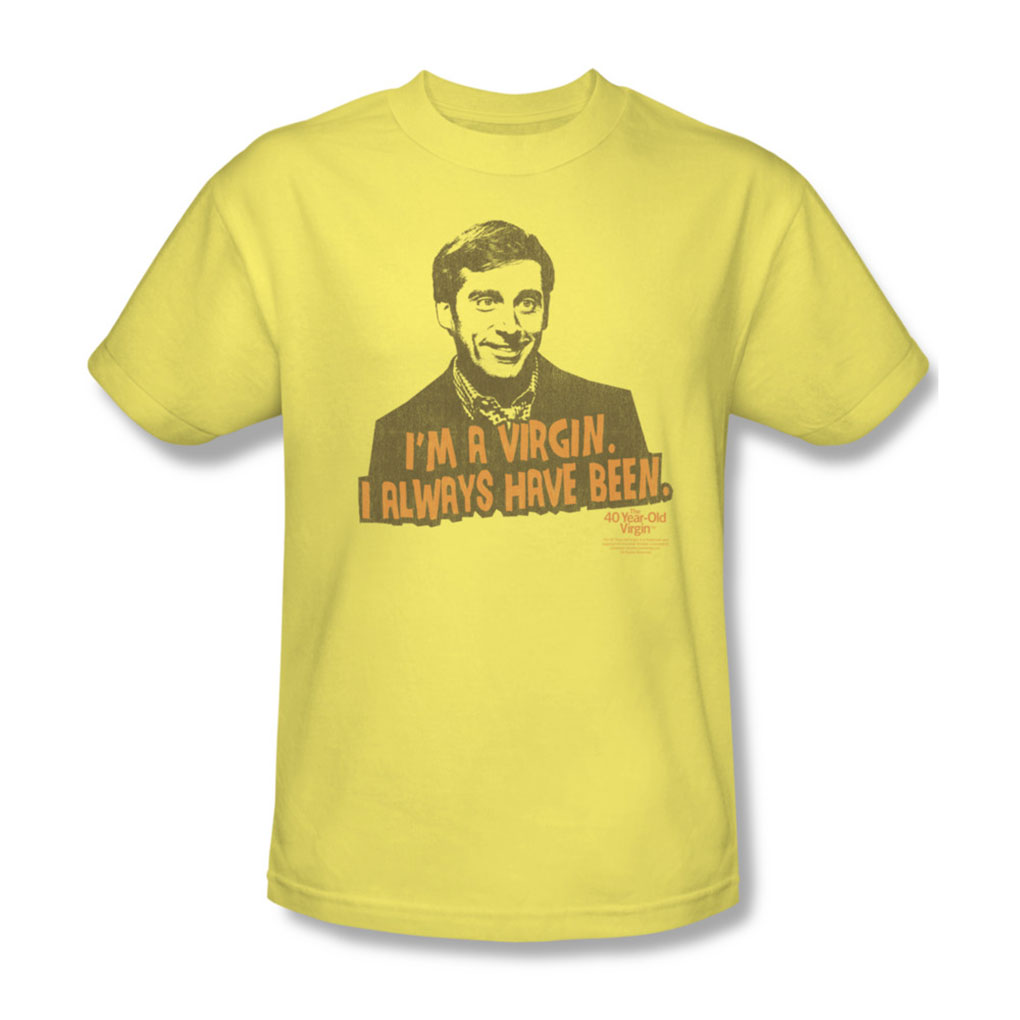 Image of 40 Year Old Virgin - Mens Always Have Been T-Shirt In Banana