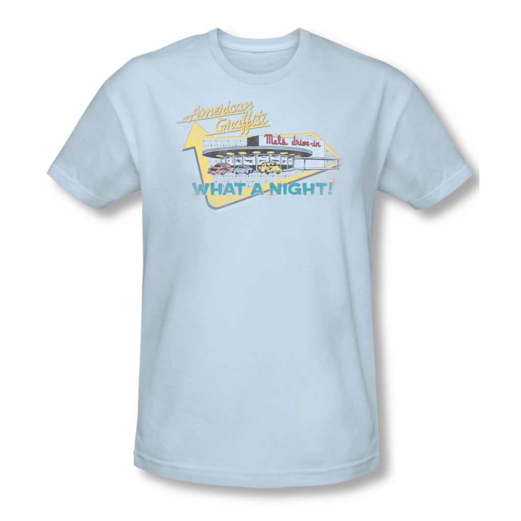 Image of American Grafitti - Mens MelS Drive In T-Shirt In Light Blue